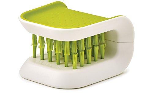 Joseph Joseph 85105 BladeBrush Knife and Cutlery Cleaner Brush Bristle Scrub Kitchen Washing Non-Slip, One Size, Green