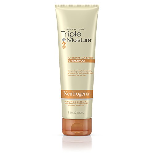 Neutrogena Triple Moisture Cream Lather Shampoo for Extra Dry Hair, Damaged & Over-Processed Hair, Hydrating with Olive, Meadowfoam & Sweet Almond, 8.5 fl. Oz Pack of 3