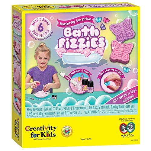 Creativity For Kids Butterfly Surprise Bath Fizzies – Makes 6 DIY Bath Bombs