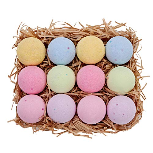 Spa Luxetique Handcrafted Bath Bombs Gift Set, 3.2OZ/12 Lush Fizzies Spa Kit, Natural Vegan Shea & Cocoa Butter Dry Skin Moisturize, Best Gift Ideas for Christmas Birthday for Women, Mom, Her