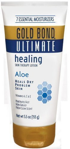 Gold Bond Ultimate Skin Therapy Cream Healing Aloe, 5.5 Ounce Pack of 3 Body Cream for Rough, Dry Skin with Aloe