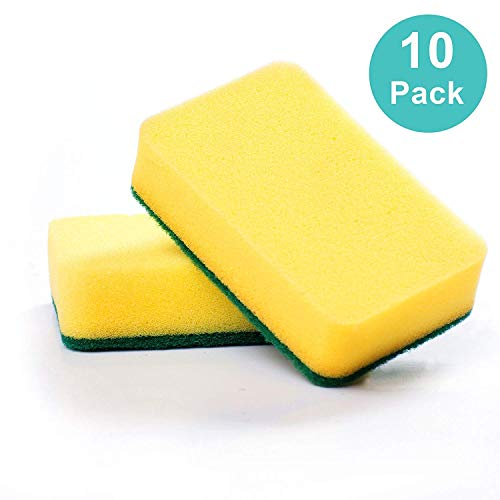 Kitchen sponge scratch free, great cleaning scourer included pack of 10
