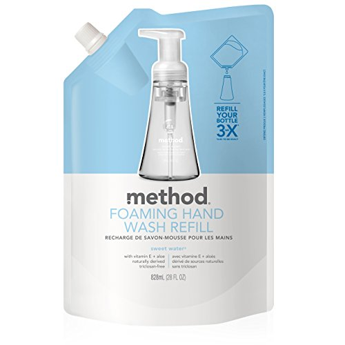 Method Naturally Derived Foaming Hand Wash Refill, Sweet Water, 28 Ounce