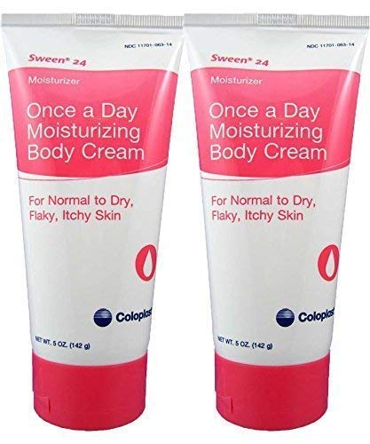 Coloplast Sween 24 Once a Day Moisturizing Body Cream For Normal, Dry, Flaky and Itchy Skin 2 5oz Tubes