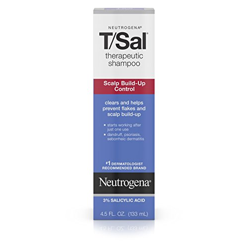 Neutrogena T/SAL Therapeutic Shampoo for Scalp Build-Up Control with Salicylic Acid, Scalp Treatment for Dandruff, Scalp Psoriasis & Seborrheic Dermatitis Relief, 4.5 fl. oz