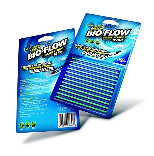 Green Gobbler GGBF12 BIO-Flow Strips-12 Drain Cleaner & Deodorizer, 12 Pac