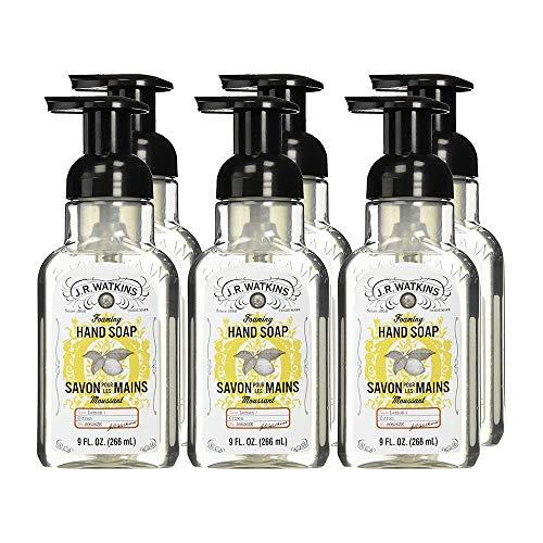 J.R. Watkins Foaming Hand Soap, Lemon, 9 ounce Pack of 6