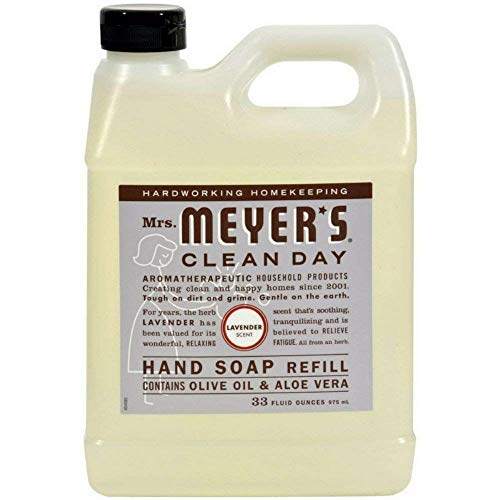 Mrs. Meyers Clean Day Hand Soap Refill, Lavender 33 oz Pack of 3