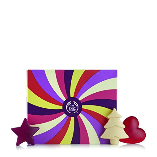The Body Shop Limited Edition Festive Soaps Gift Set, 6pc Bath and Body Seasonal Gift Set of Assorted 100% Vegan Soaps