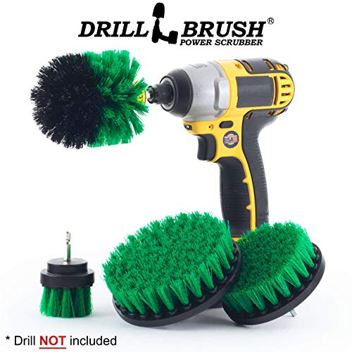 Dish Brush – Stove – Tile – Oven – Backsplash – 4 Drill Powered Kitchen Brush – Kitchen Accessories – Grout Cleaner – Cast Iron Skillet – Drill Brush – Flooring – Spin Brush – Sink – Cleaning Supplies
