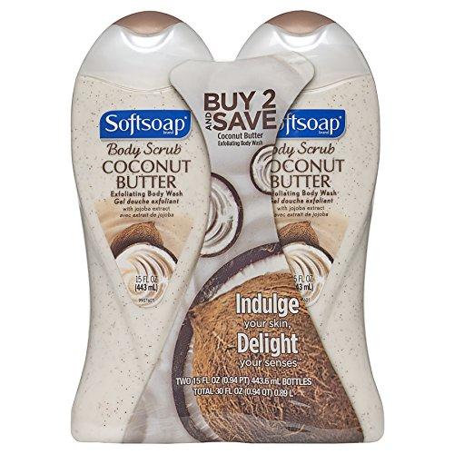 15 fluid ounce 2 Count – Softsoap Body Wash, Coconut Scrub