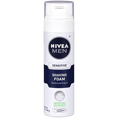NIVEA Men Sensitive Shaving Foam 7 Ounce Pack of 6
