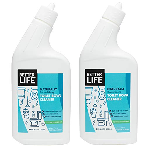 Better Life Natural Toilet Bowl Cleaner, 24 Ounce Pack of 2 Tea Tree & Peppermint Scent