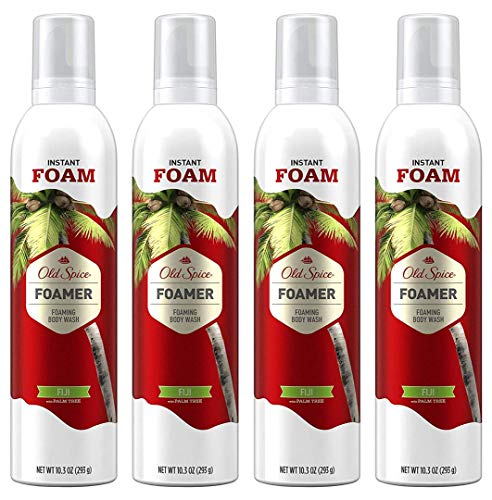 Old Spice Foamer Body Wash for Men, Fiji With Palm Tree Scent, 10.3 Fl Oz Pack of 4