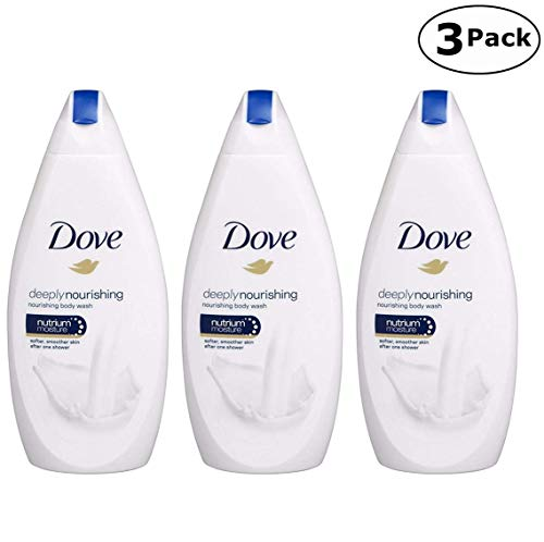 Dove Deeply Nourishing Body Wash, 16.9 Fluid Ounce / 500 ml Pack of 3