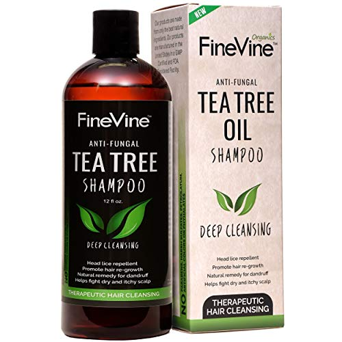 Prevent Hair Dandruff, Head Lice, Dry Itchy & Flaky Scalp. Sulfate and Paraban Free. Shampoo – Made in USA – Best Tea Tree Oil Shampoo – for Men, Women and Kids