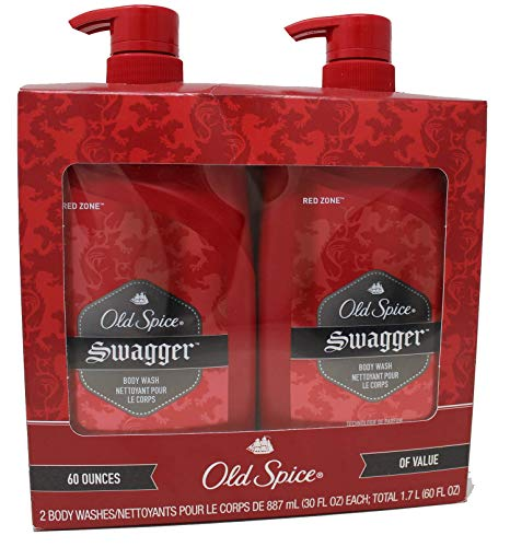 Red Zone , Value Pack of 2 – Old Spice Swagger Body Wash – 30 Ounce Bottles Total 60 Ounce