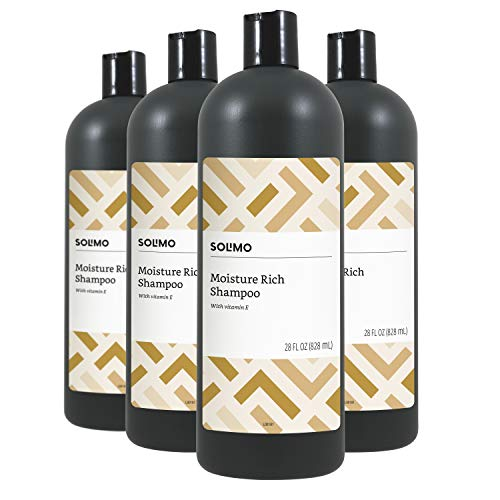 Solimo Moisture Rich Shampoo, 28 Fluid Ounce Pack of 4 – Amazon Brand