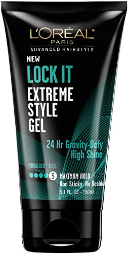 L'Oreal Paris Hair Care Advanced Hairstyle Lock It Extreme Style Gel, 5.1 Fluid Ounce