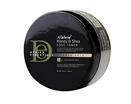 Design Essentials Natural Honey & Shea Edge Tamer with Almond & Avocado Oils for Luminous Shine and Firm Hold- 2.3oz