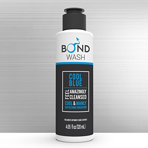 BOND MEN'S INTIMATE WASH 4.05 Fl. Oz. 120mL The Best Hygiene Care Products for Men. Confidence Booster & Good for Daily-use. Cool Blue