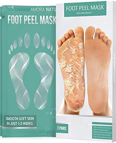 Lavender Scented. – Natural Treatment – Smooth Soft Skin in Just 1-2 Weeks – Get Rid of Cracked Heels , Dead Skin , Callus – 2 Pairs Exfoliating Foot Peel Mask