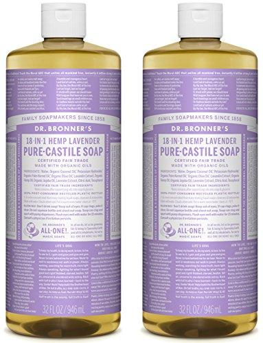 Dr. Bronner's Pure-Castile Liquid Soap Value Pack – Lavender 32oz. 2 Pack