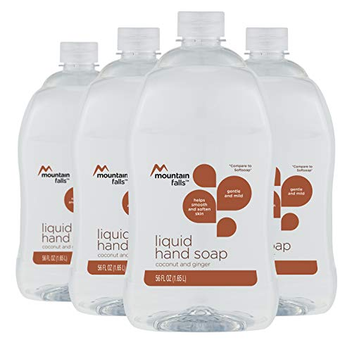 Mountain Falls Coconut & Ginger Liquid Hand Soap, 56 Fluid Ounce Pack of 4