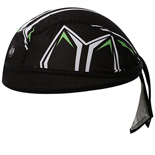 XINTOWN Motorcycle Biker Bandana Headwrap Headscarf Adjustable Cap Hat Windproof Cycling Outdoor Head Wraps Hat – Black