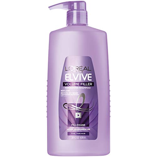 L'Oréal Paris Elvive Volume Filler Thickening Cleansing Shampoo, for Fine or Thin Hair, Shampoo with Filloxane, for Thicker Fuller Hair in 1 Use, 28 fl. oz.