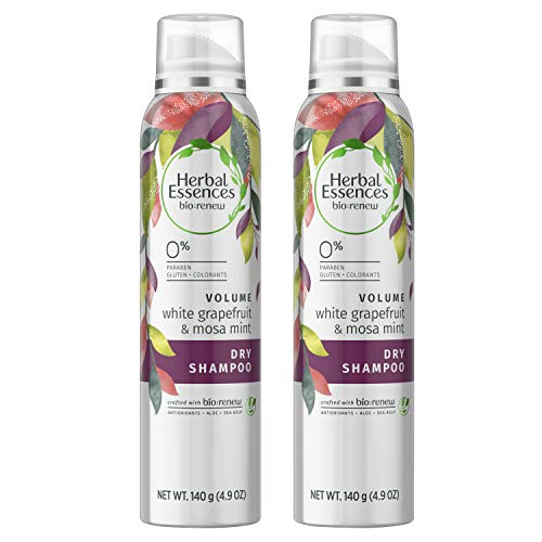 Herbal Essences, Dry Shampoo, BioRenew White Grapefruit & Mosa Mint Naked Volume, 4.9 fl oz, Twin Pack