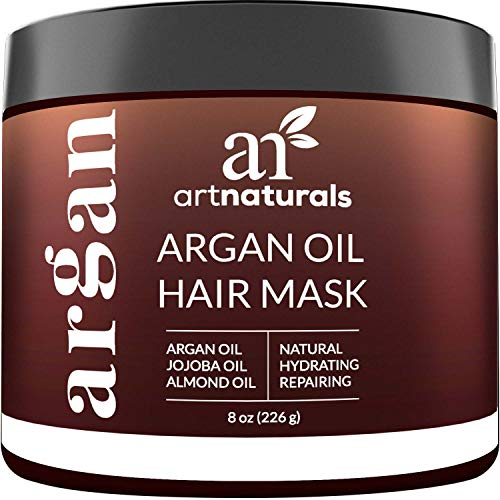 8 Oz/226g – Repair Dry, Damaged, Color Treated, Natural Hair Growth – Organic Jojoba Oil, Aloe Vera & Keratin – Sulfate Free – Deep Conditioning Treatment – ArtNaturals Argan Hair Mask Conditioner