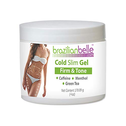 Cellulite Cold Slimming Gel with Caffeine and Green Tea Extract- Reduce Appearance of Cellulite, Stretch Marks, Firming and Toning, Improves Circulation – Quick Absorption- Cryo Gel
