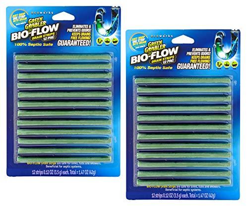Green Gobbler Bio Flow Drain Strips 24 Strips Drain