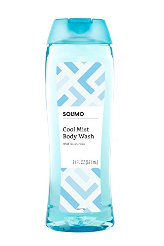 Amazon Brand – Solimo Body Wash, Cool Mist Scent, 21 Fluid Ounces