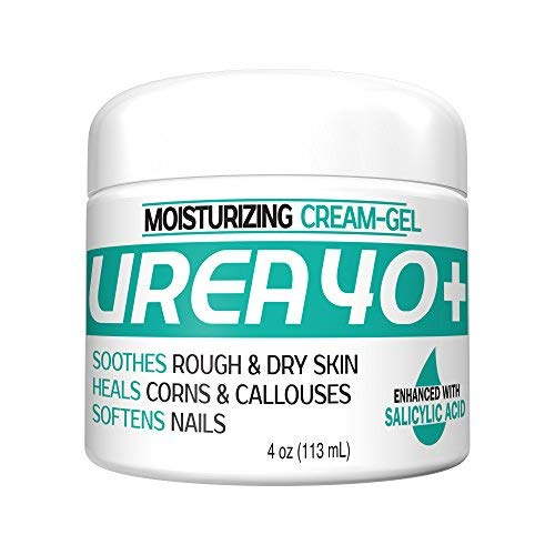 Urea 40% Plus 2% Salicylic Acid Cream, Dermatologist Recommended Exfoliating Skin Moisturizer & Foot Cream 4oz