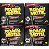 Black Flag 8 traps Roach Motel Cockroach Killer bait Glue Trap