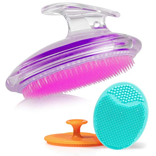 Perfect for Dry Brushing, by Dylonic – Exfoliating Brush For Razor Bumps and Ingrown Hair Treatment, Silicone Face Scrubbers, Face and Body Exfoliator Set