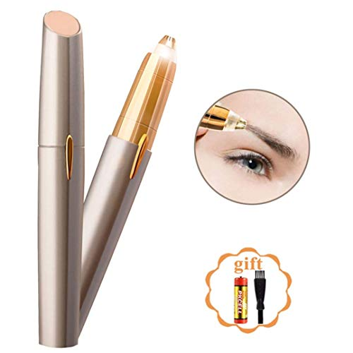Instant and Painless Electric Facial Hair Remover Brows, A Perfect Gift For Women – BEENLE Eyebrow Trimmer Hair Remover – Portable, Precise and Safe Eyebrow Razor Shavers, Easy To Use