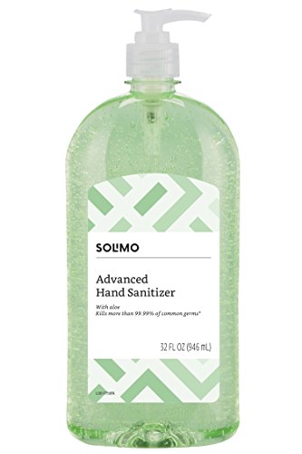 Solimo Hand Sanitizer with Vitamin E and Aloe, 32 Fluid Ounce – Amazon Brand