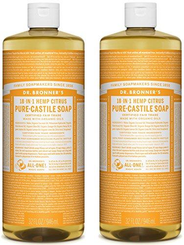 Citrus 32oz. 2 Pack – Dr. Bronner's Pure-Castile Liquid Soap Value Pack