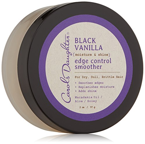 Carol's Daughter Black Vanilla Moisture & Shine Edge Control Smoother For Dry Hair and Dull Hair, with Aloe and Honey, Clear Edge Smoother, Edge Tamer, 2 oz Packaging May Vary