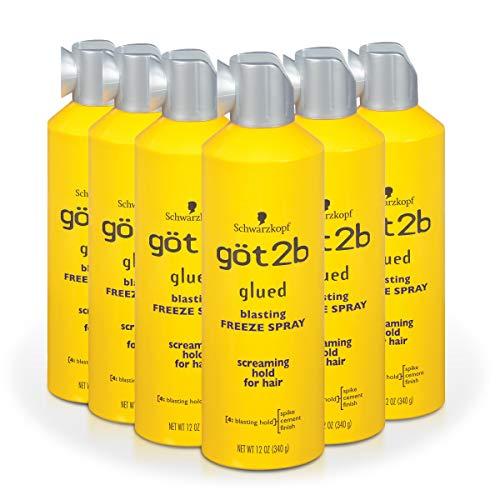 Got2b Glued Blasting Freeze Hairspray Aero, 12 Ounce Pack of 6