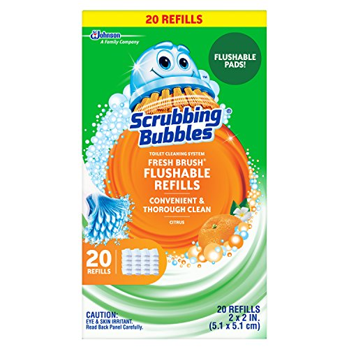 Scrubbing Bubbles Fresh Brush Toilet Cleaning System, Flushable Refill, 20 ct