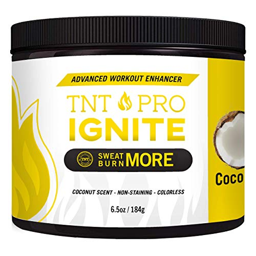 Fat Burning Cream for Belly Coconut Scented – Thermogenic Weight Loss Workout Slimming Workout Enhancer 6.5 oz Jar – TNT Pro Ignite Sweat Cream for Men and Women
