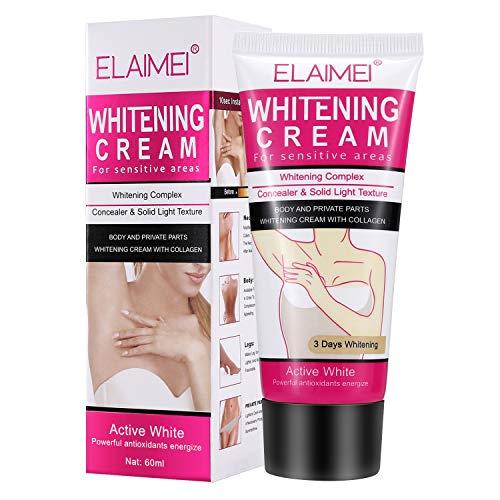 Underarm Whitening Cream, MayBeau Natural Skin Lightening Cream Armpit Whitener Body Deodorant Brightening Cream Repairs Bikini Sensitive Area Intimate Private Parts Between Legs Knees