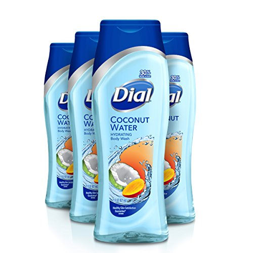 Dial Body Wash, Coconut Water & Mango, 21 Ounce Pack of 4