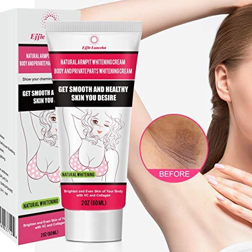 Underarm Whitening Cream, Natural Skin Bleaching Cream with Vitamin C Effective for Lightening & Brightening Armpit, Knees, Elbows Neck, Dark Spots, Whitens, Nourishes, Repairs Skin 60g 60g