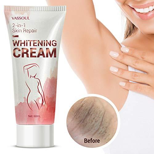 Lighten & Brighten Armpit, Bikini, Elbow, Private and Sensitive Areas 60mL – Vassoul Skin Whitening Cream