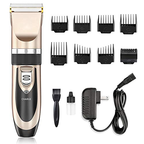 Nicewell Low Noise Hair Clippers for Men Kids, Cordless Hair Trimmer Grooming Kit with 8 Attachment Guide Combs for Hair Cutting – Hair Clippers